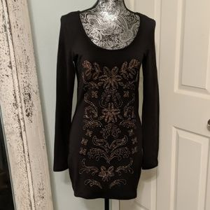 Free People embroidered bodycon dress